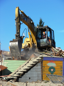 In one hour the hundred-year-old Big Green House was reduced to rubble.